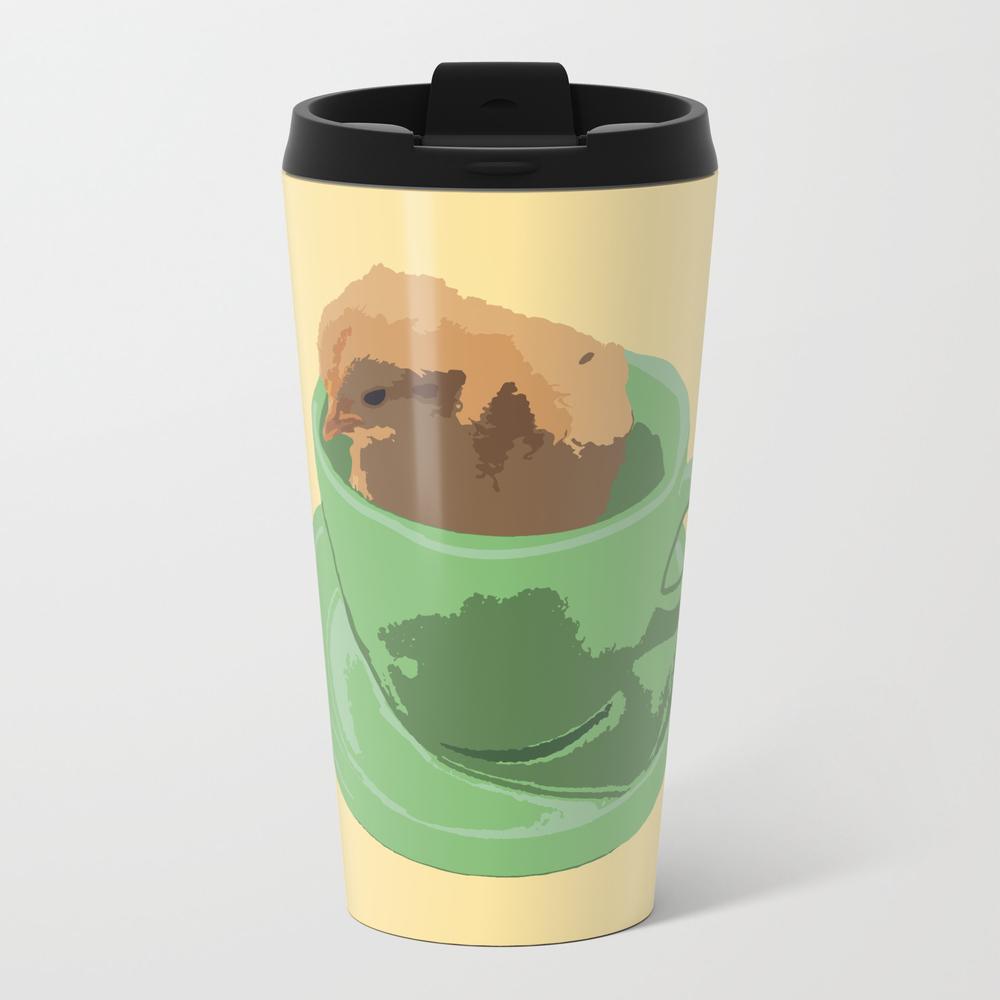 Baby Chick In Jadeite Cup Illustration Travel Mug TRM8830669