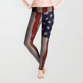 Wood American flag Leggings