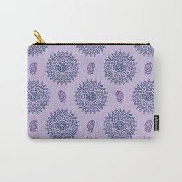 Mandala Paisley Block Print Purple Carry-All Pouch