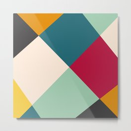 Colored Tiles  Metal Print