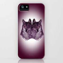 Season of the Wolf - Duet in Magenta iPhone Case