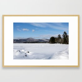 Cleawater Lake in Western Maine Framed Art Print