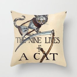 Charles Bennett - The nine lives of a cat - London 1860 Throw Pillow