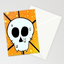 Melty Skull Stationery Cards