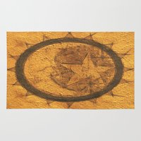 sun and moon Area & Throw Rugs featuring Sun Moon Star by Geni