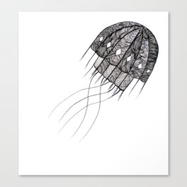 pattern jellyfish Canvas Print
