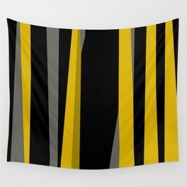 yellow gray and black Wall Tapestry