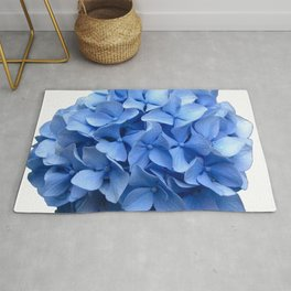 Nantucket Blue Hydrangea Flower Rug