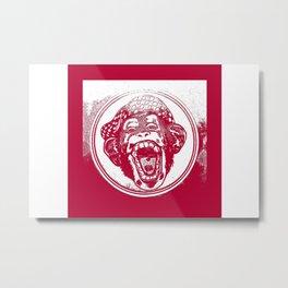 Crazy Monkey Laugh Metal Print