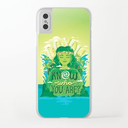 Know who you are Clear iPhone Case