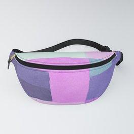 Violet Squares Fanny Pack