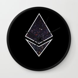 Ethereum Galaxy Logo Wall Clock