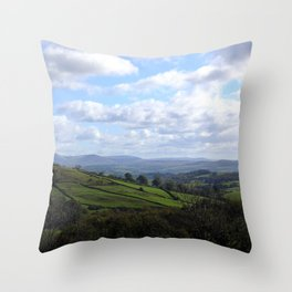 View from Orrest Head, The Lake District - Landscape and Nature Photography Throw Pillow