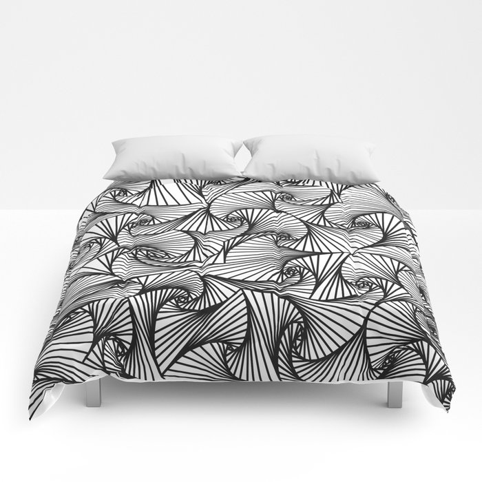 Fractal Sketch Light Comforters
