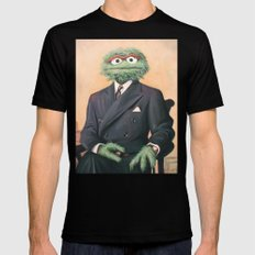 Sir Oscar Grouch Mens Fitted Tee Black SMALL
