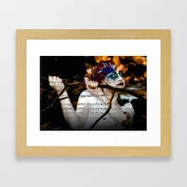 The Muse in The Woods Framed Art Print