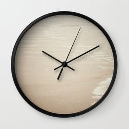 Where Land Meets Sea Wall Clock