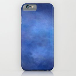 Abstract Soft Watercolor Gradient Ombre Blend 2 Deep Dark Blue and Light Blue iPhone Case