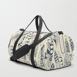 joyful feathers cream Duffle Bag