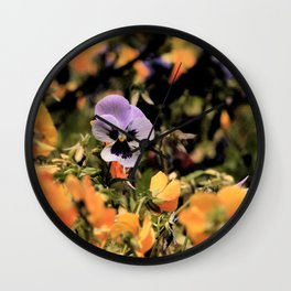 Spring Violets Wall Clock