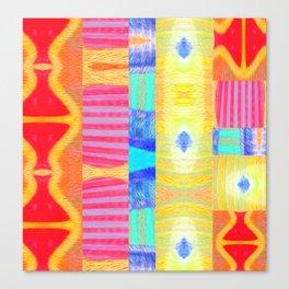 Modern African Textile Mud Cloth Modern Canvas Print