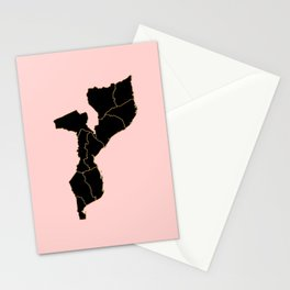 Mozambique map Stationery Cards