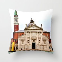 Venetian Waterway 2 Throw Pillow