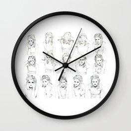 Kristen Stewart Sketches Wall Clock