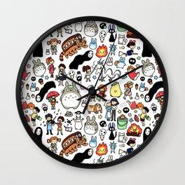 Kawaii Ghibli Doodle Wall Clock