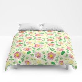 California Rose Pattern Comforters