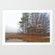 Hidden Home on a Foggy Day 2 Art Print