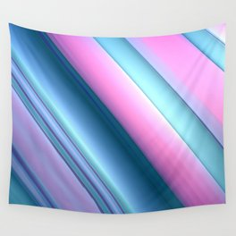 Blue and Pink Swoosh Wall Tapestry