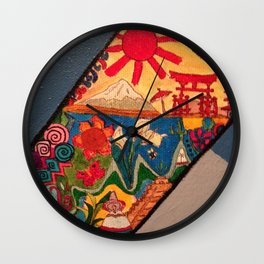 Foreign doodles Wall Clock