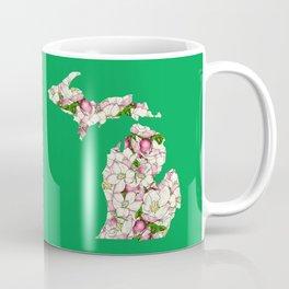 Michigan in Flowers Coffee Mug