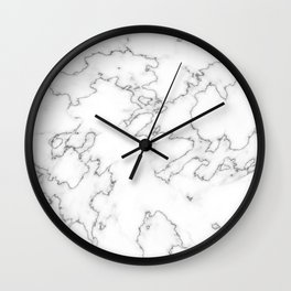 Classic White Marble Wall Clock