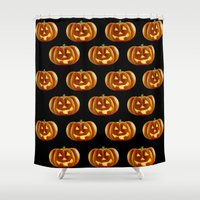 pumpkin Shower Curtains featuring pumpkin by amyskhaleesi