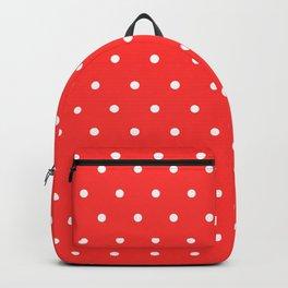 White Polka Dots Pattern Backpack