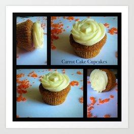 Carrot Cake Cupcakes Art Print