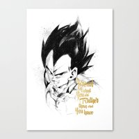 dragonball z Canvas Prints featuring Dragonball Z - Pride by Straife01