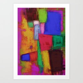 Recycled surface Art Print