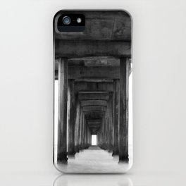 Ocean Pier Black and White iPhone Case