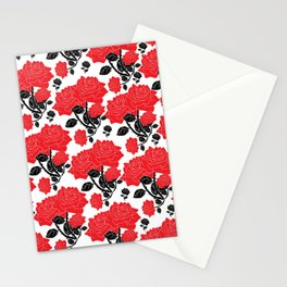 Red and black roses Stationery Cards