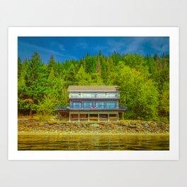 Squilax Cabin Art Print