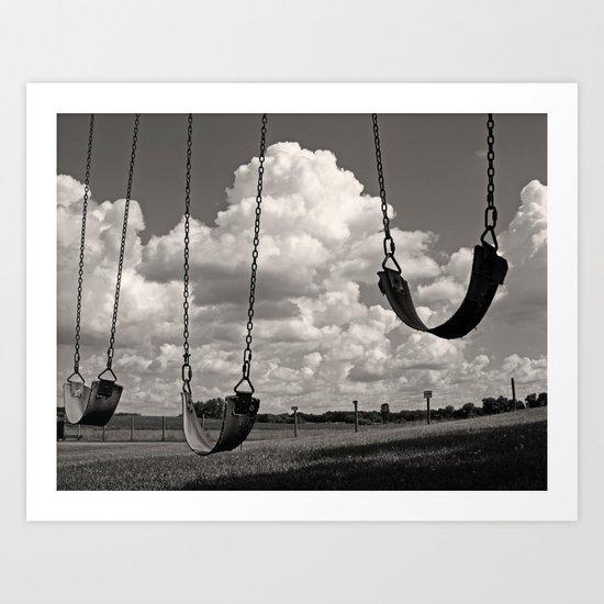 Old School Swings Art Print