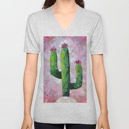 Cactus Collage Unisex V-Neck