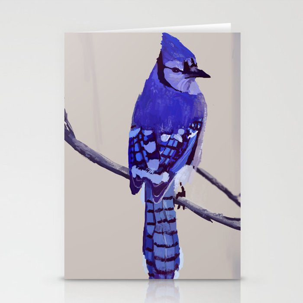 Blue Jay Bird Stationery Cards