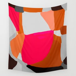 Abstract in Pink, Brown and Grey Wall Tapestry