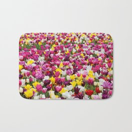 Collection of different tulips in Holland Bath Mat