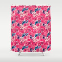Cute Girl Flowery - Vintage Flowery Pattern Shower Curtain