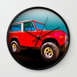 Ford Bronco Classic from VivaChas Hot Rod Art Wall Clock